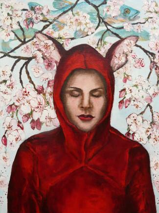 Anne_Langdon____Blossom_Bunny____Acrylics___2009_31cmW_x40cmH_